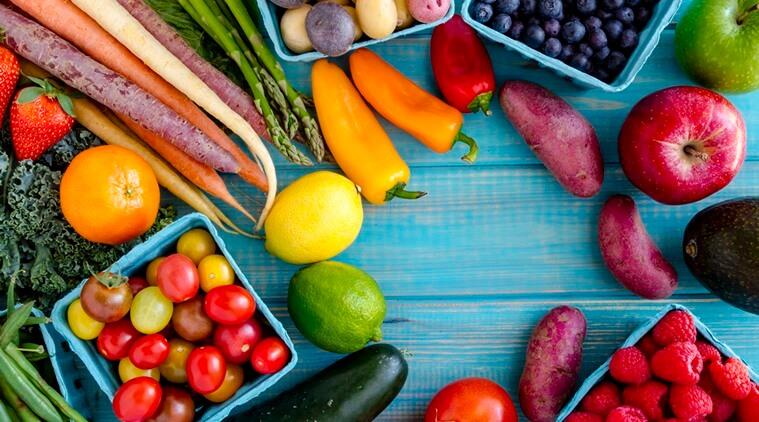 Φρέσκα φρούτα και λαχανικά του Μαΐου
