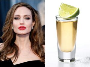Η Angelina Jolie απολαμβάνει την παρέα της κίτρινης tequila.