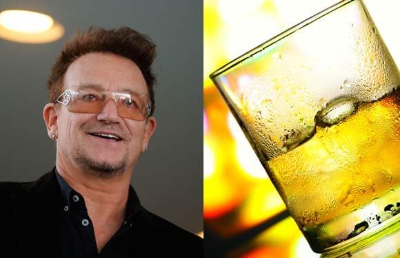 Ο Bono προτιμά ουίσκι ή μπέρμπον.