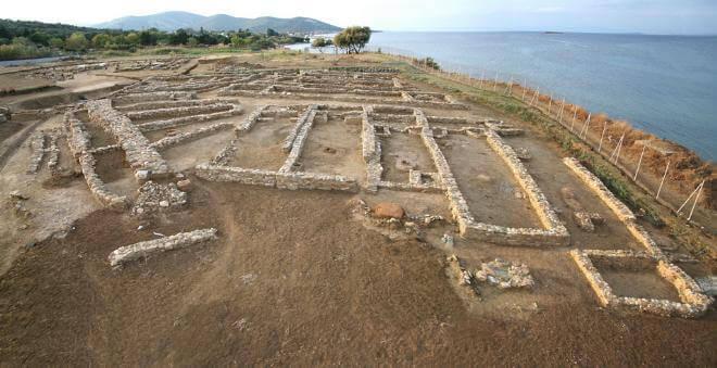 Λέσβος: Άποψη του προϊστορικού οικισμού της Θερμής © Κ΄ ΕΠΚΑ