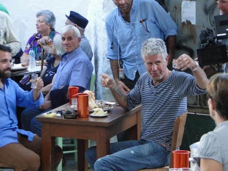 Ο Anthony Bourdain στη Νάξο