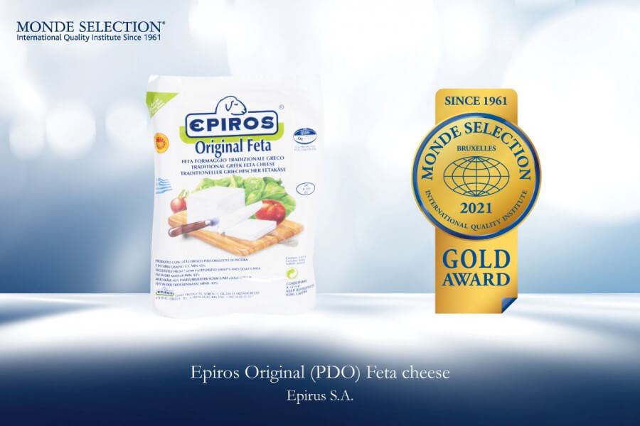 Triple gold distinction for feta products PDO EPIRUS SA