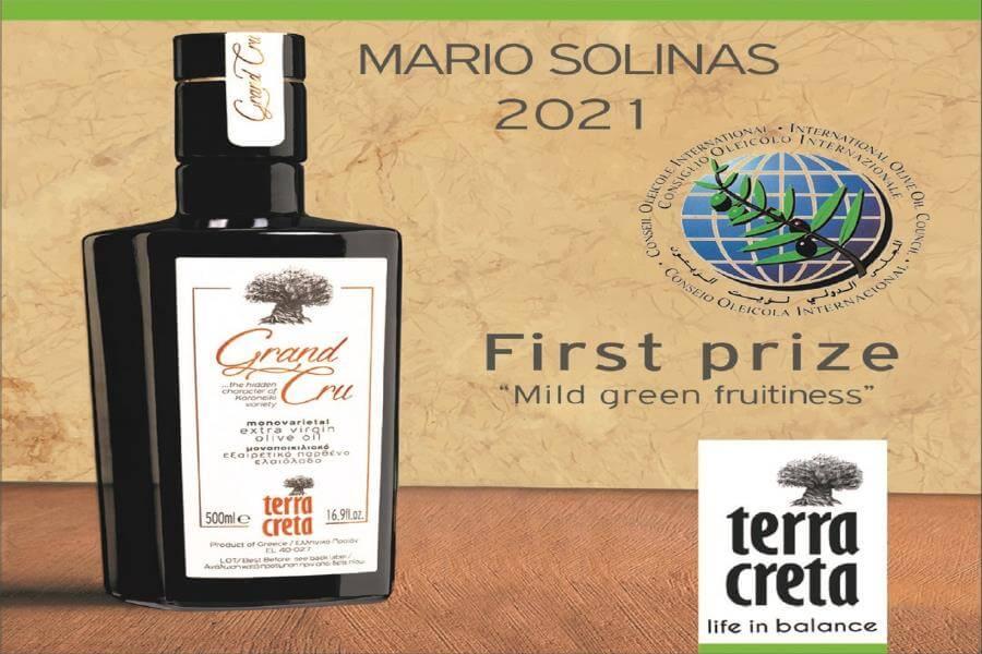 Πρώτο στο διαγωνισμό Mario Solinas 2021 το TERRA CRETA