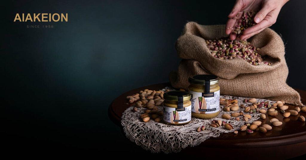 Αιάκειον: Από την Αίγινα στα ράφια των σούπερ μάρκετ με την κρέμα φιστικιού Αιγίνης