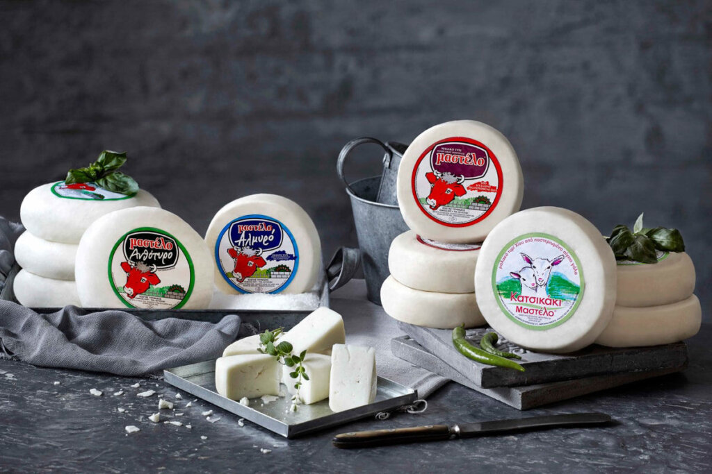 Mastelo soft cow cheese from Chios