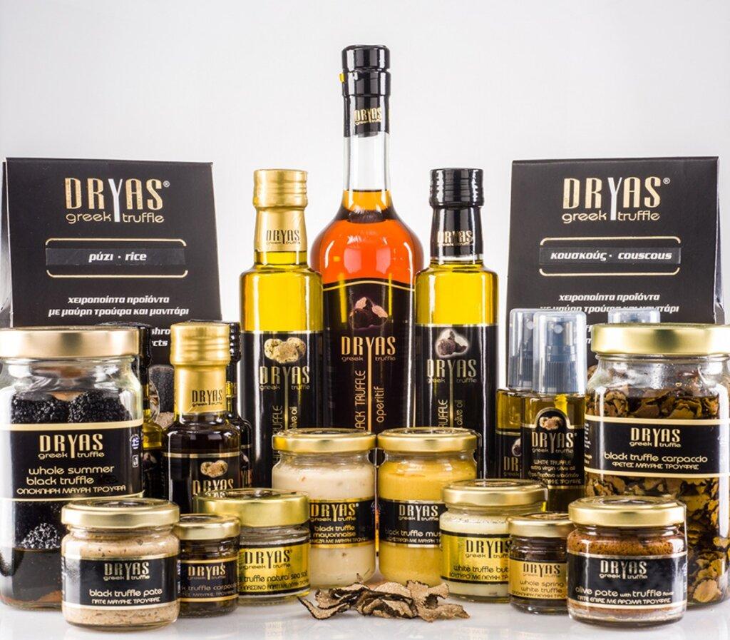 Dryas Greek Truffle prepares nuts and Pop Corn from truffle