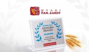 H ΜΥΛΟΙ ΔΑΚΟΥ στα Αιωνόβια Brands 2021 για τα 146 χρόνια ιστορίας της