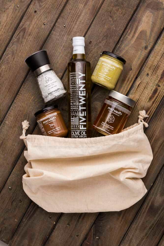 Gift bag from FiveTwenty that smells like Greece